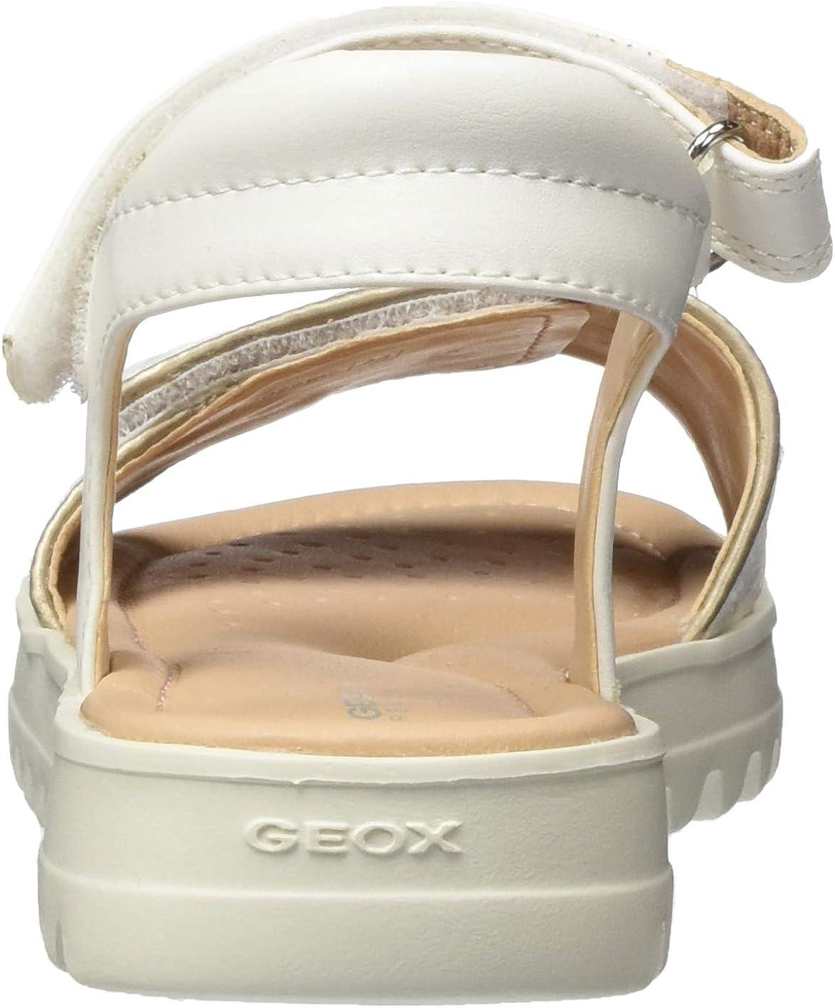 Geox M/ädchen J Coralie Girl D Peeptoe Sandalen