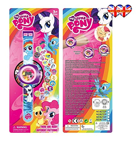 My Little Pony Watch ,Digital Projection Watch For Children,kids (Kids Fancy Dress Next Day Delivery)