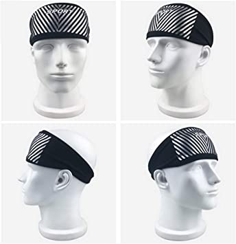 Befusy Lyca Absorbent Sport Sweat Headband Elastic Sweatband For Men And Women