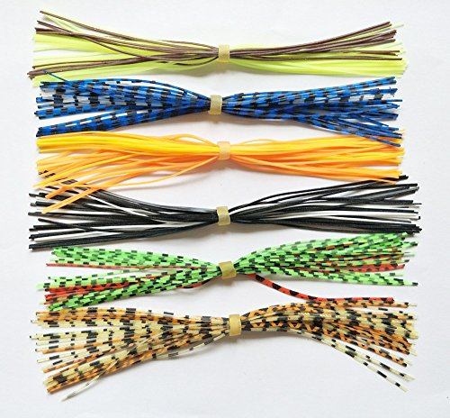 - 20 Bundles Fishing Skirt Lures Kit Replacement Skirts for SpinnerBaits Buzz Baits 30 Strands Quick Change Jig Skirts