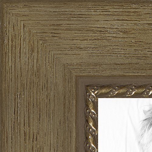 Metallic Wood Frame - ArtToFrames 20x28 inch Metallic Gold with Ornate Detail Wood Picture Frame, WOMTM310-333-20x28