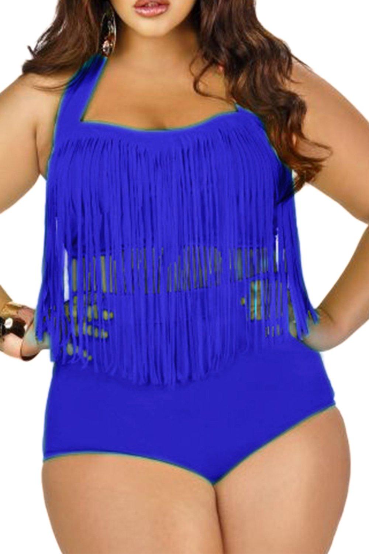 Les Maillots De Bain Halter Bandokini Tassel Taille Haute En Plusieurs  Couleurs: Amazon.fr: Vêtements et accessoires