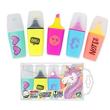 EC5138 - Mini marcadores flúor, colores variados, 5 unidades ...
