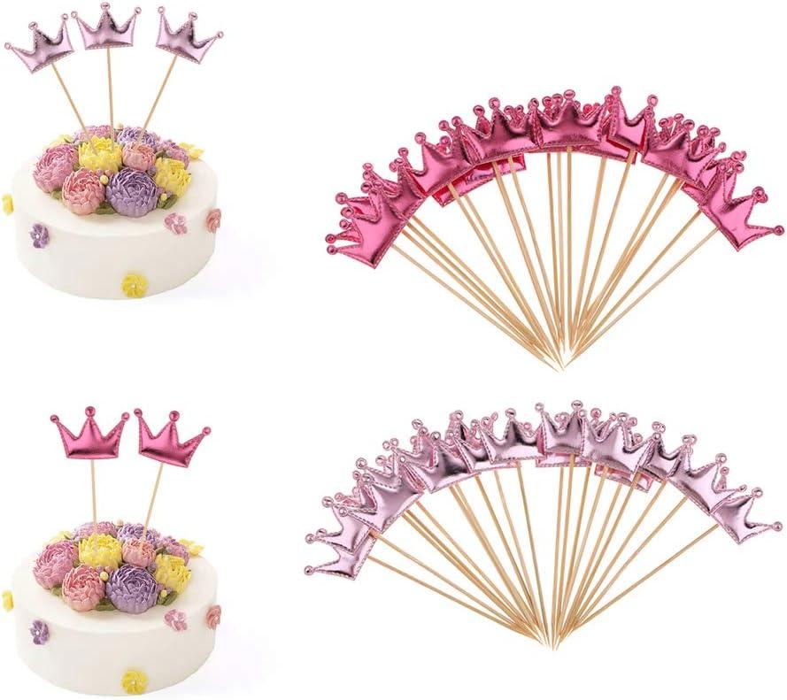 FLAMEER 40 Pcs Torta Cupcakes de Toppers Princesa Decoraci/ón de Baby Shower