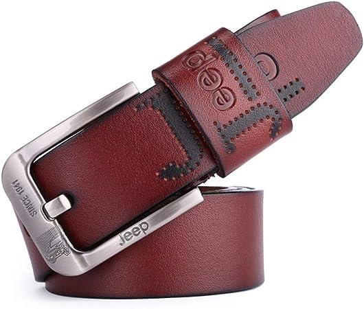DENGDAI Mens Belt Leather Belt Mens Belt Length 100-135cm