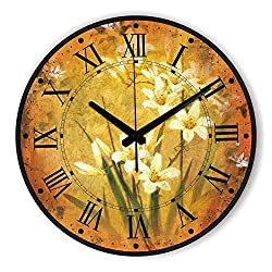 Brand Absolutely Silent Large Decorative Wall Clock With Waterproof Clock Face And Roman Number Retro Wall Decor Watch style 13 12 inch