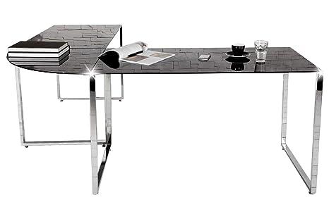 Eckschreibtisch Schwarz Glas Schreibtisch Office Design Büro Möbel