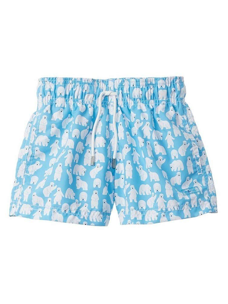 Azul Baby Boys Turquoise Polar Bear Print Drawstring Tie Swimwear Shorts 18-24M by Azul Swimwear