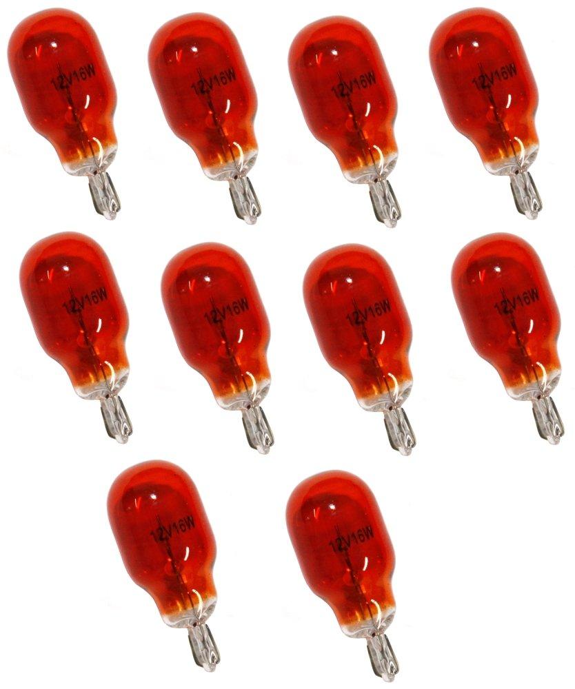 Aerzetix - Set di 10 lampadine WY16W T15 12V 16W Ambra Arancione . 3800946248118