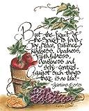 Fruit of the Spirit Galatians 5:22-23 Wood 8 x 10 inch Inspirational Sign Plaque