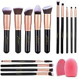 Naropox Brochas de Maquillaje 14 Piezas, Profesional Libre de Crueldad Pinceles de Maquillaje Kabuki con Limpiador, Premium S