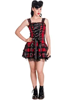 Hell Bunny Harley Tartan Red Dress