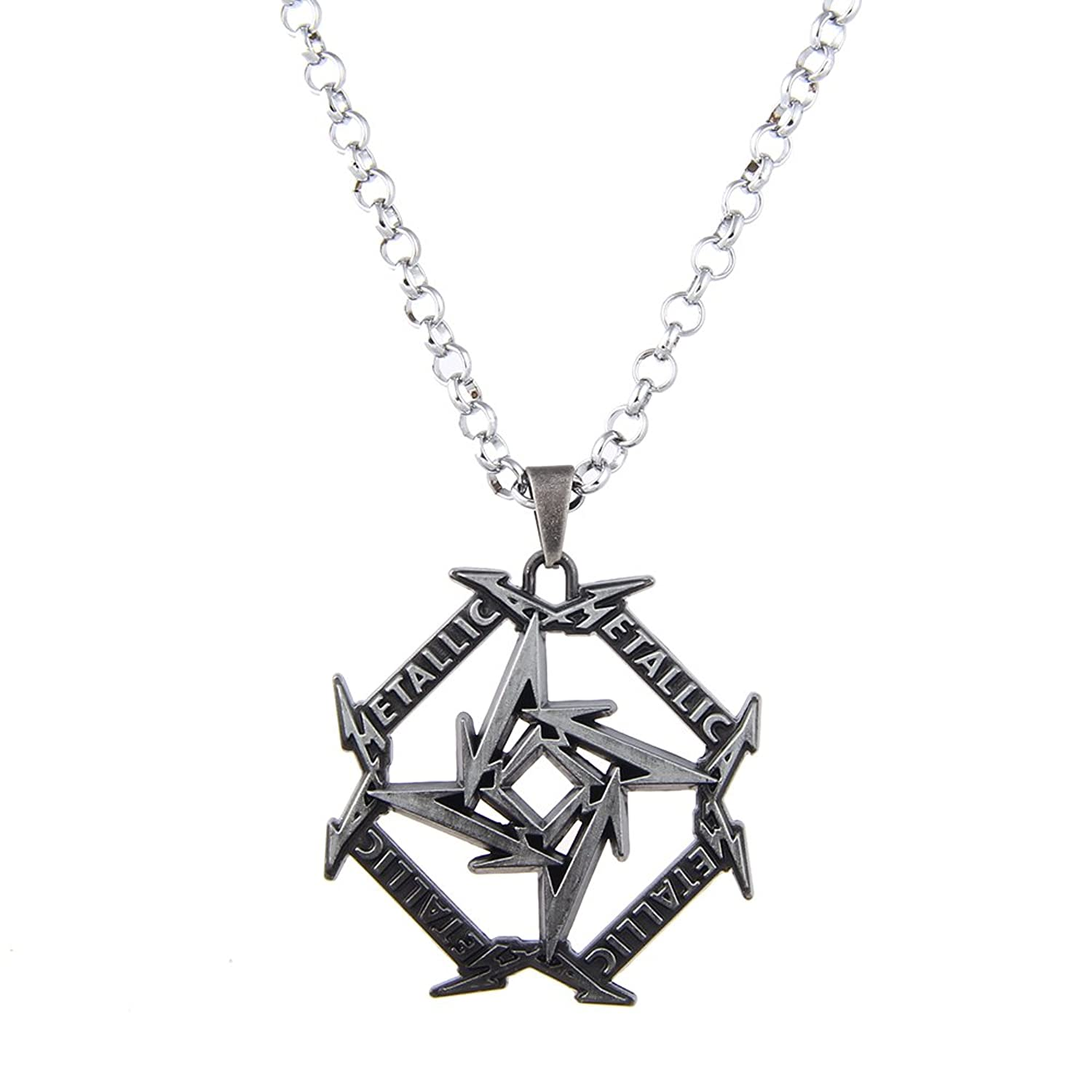 Lureme Punk Jewelry Metallica Band Signs Geometry Pendant Necklace (nl005613)