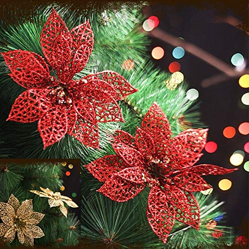 Tree Shape - 6 Inch Christmas Artificial Flowers Xmas Tree Decorations Hollow Wedding Party Decor Ornaments 1 Pcs - Branch Tree Ornaments Candy Cutter Crafts Sponge Shape Bookcase Decor Tabl (Christmas Trees Artificial Cheapest)