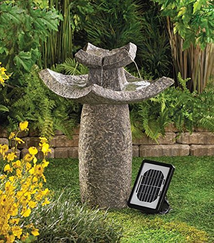 Solar Garden Fountain Indoor Outdoor Relaxation Decorative Pump Mainstays Pond Home Waterfall Decor Feng Sui Ornament by DecorDuke
