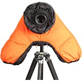 LYstudio DSLR SLR Camera Cotton Cold-proof Waterproof Rain Cover Warm protector with Carrying Bag for Outdoor Shooting - Orange