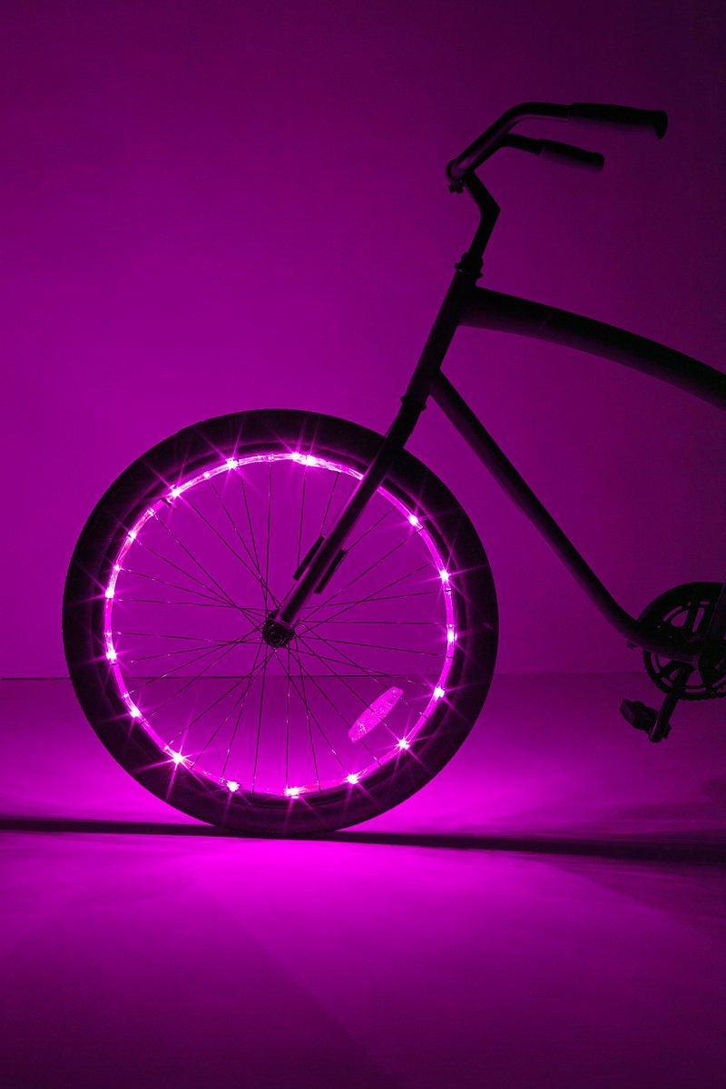 Brightz, Ltd. Wheel Brightz LED Bicycle Accessory Light (for 1 Wheel), Pink