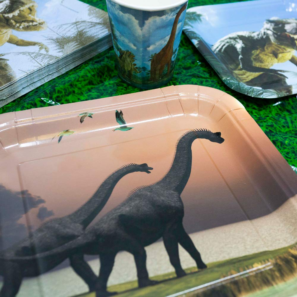 Dinosaur Party Dinosaur Party Supplies Pack Dinosaur Tableware 113+ Pieces for 16 Guests!