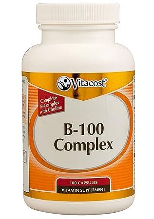 Amazon.com: vitacost B-100 Complex – -100 Cápsulas: Health ...