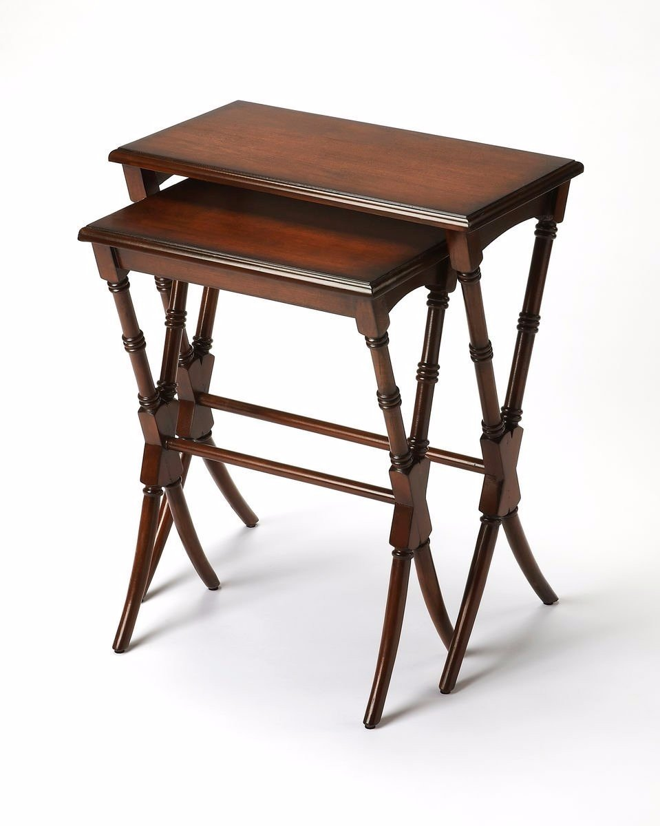Ambiant Traditional NESTING TABLES Medium Brown by Ambiant