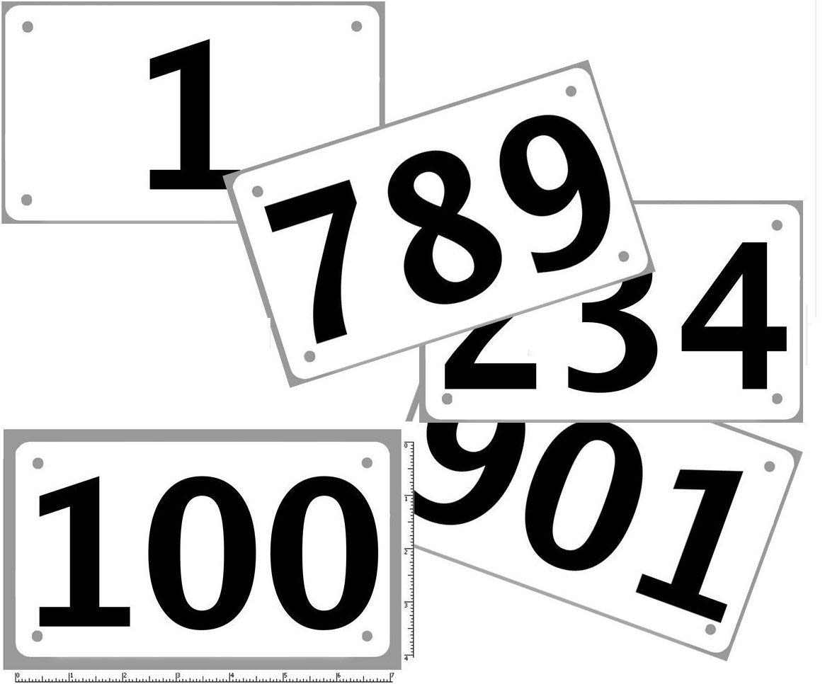 Race Numbers Official Competitor tryout tyvek bib Numbers, Set of 100, (Any 100 from 1-1,000) 4'x7', Industry Standard tyvek tearproof & Waterproof. Select Sequence Using Size Choice.