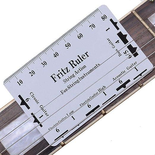 Guitarra String Action Pitch Ruler Herramienta De Medición De ...