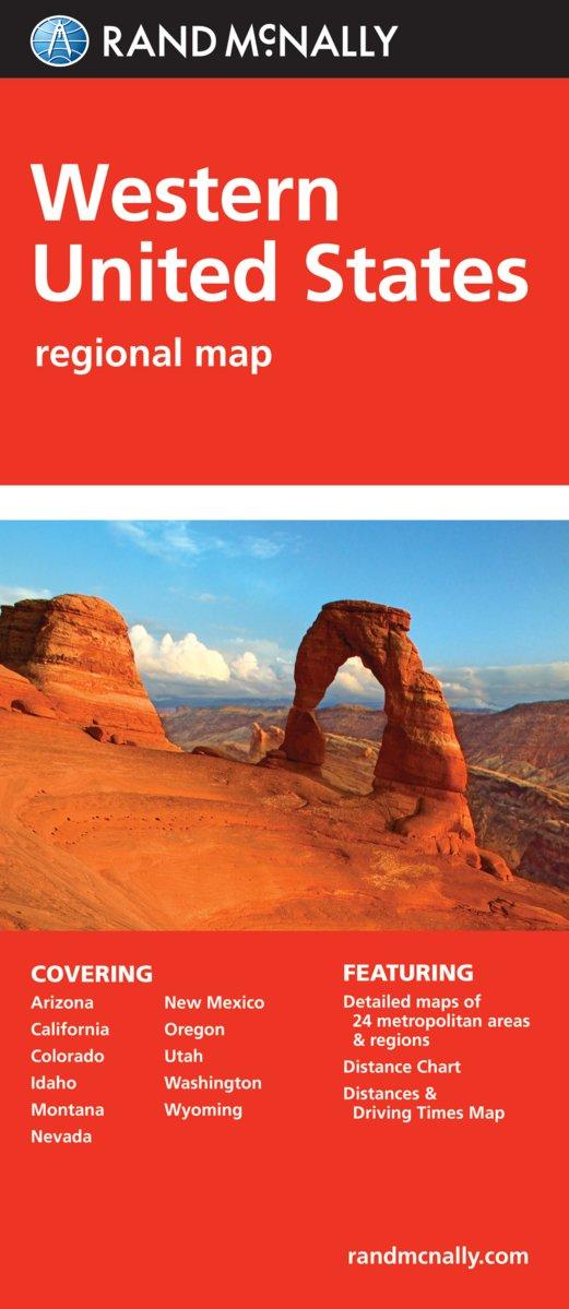 Folded Map: Western United States: Rand McNally: 0070609882116 ...