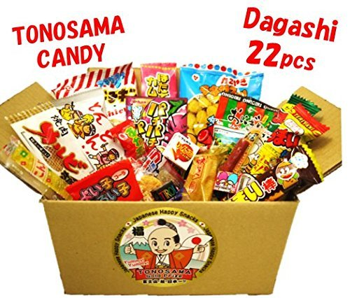 Japanese candy assortment 22pcs , full of dagashi. 'TONOSAMA CANDY'