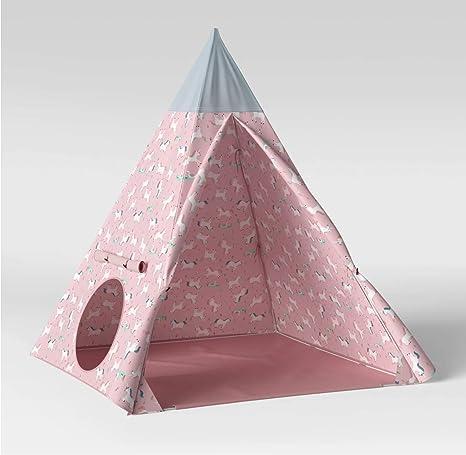 buy online e59dc 9624b Amazon.com: Pillowfort Kids Teepee - Pink and Blue Unicorns ...