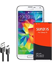 Galaxy S5 Battery, SUNZOS 3200mAh Li-ion Replacement Battery for Galaxy S5 [ I9600, G900F, G900V (Verizon), G900T (T-Mobile), G900A (AT&T),G900P(Sprint)] [3 Years Warranty]