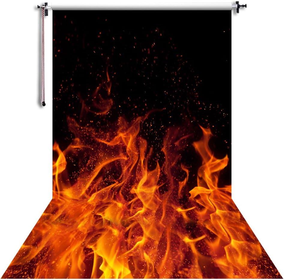 Nivius Photo 150x220cm Feuer Hintergrund Fotografie Kamera