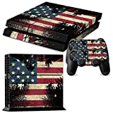 Cheap GOOOD PS4 Designer Skin Decal for PlayStation 4 Console System and PS4 Wireless Dualshock Controller – USA Flag Eagle