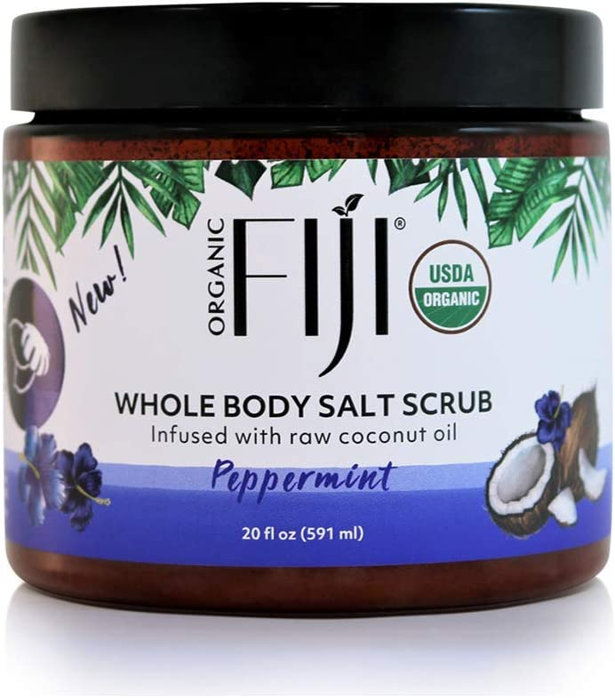 Organic Fiji Peppermint Sea Salt Scrub 20oz