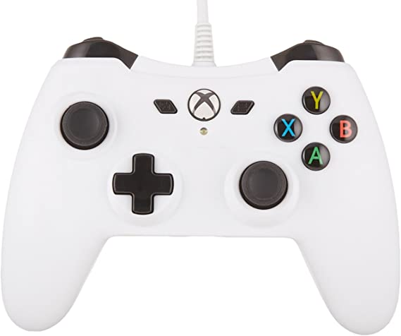 AmazonBasics - Mando con cable para Xbox One (Blanco): Amazon.es ...