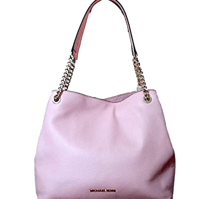 ca3a9ab3f8f9 Amazon.com  Michael Kors Jet Set Large Chain Shoulder Tote Pebble Leather  Bag In Pastel Pink  Shoes