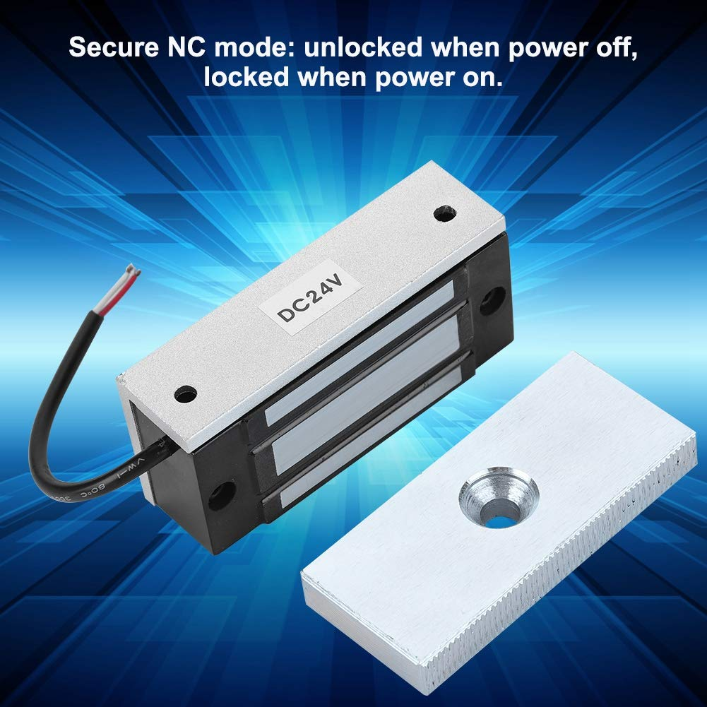 Mini Electromagnetic Lock DC12V 60KG Electronic Magnetic Door Lock Power on Locks /& Remote Control Kit for Door Cabinet Drawer