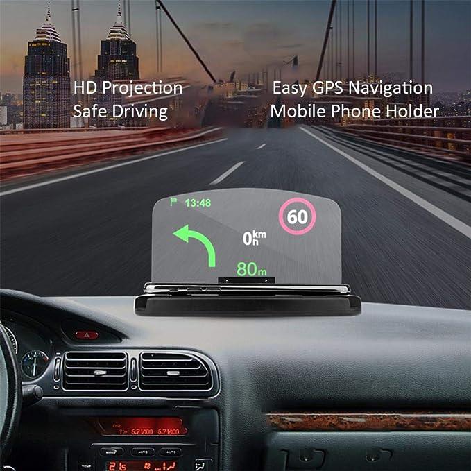 Bloomma Soporte para teléfono móvil para coche Soporte antideslizante universal para teléfono móvil Soporte para GPS Soporte para vehículo en vehículos ...