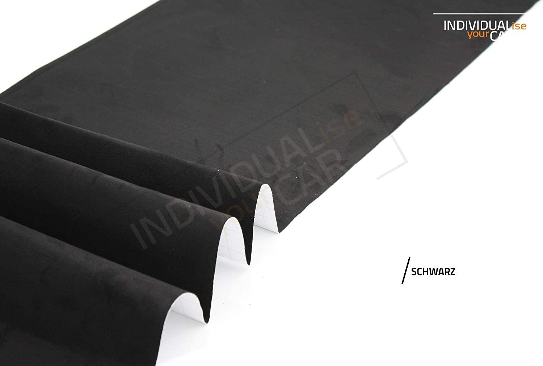 24€//m² Microfaser-Stoff selbstklebend schwarz 80 x 144 cm  Velour-Optik Folie