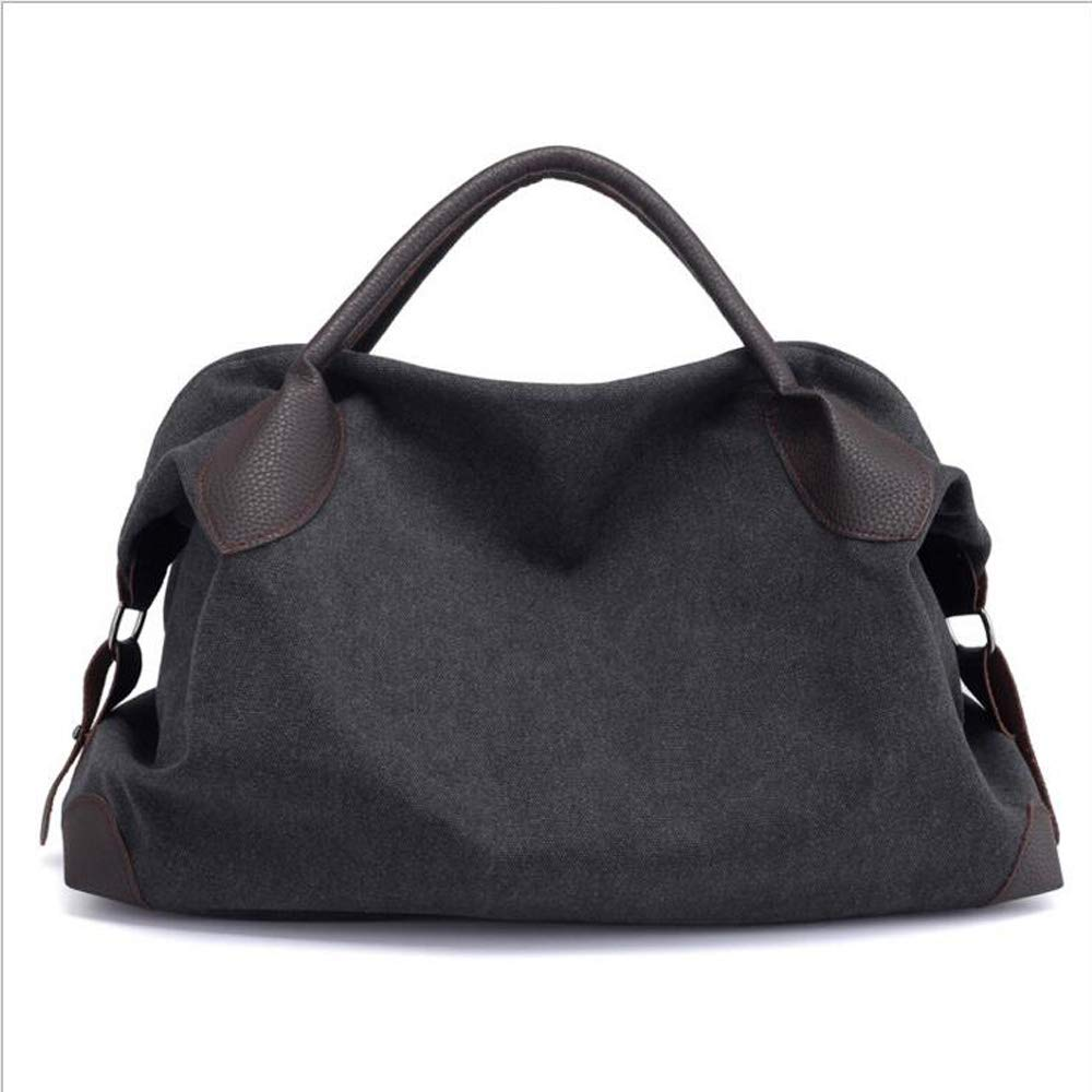 626568e9e44b ChengMei Women s Canvas Bags Top Handle Handbags Casual Large Shoulder  Crossbody Bags Hobo Purse Shopper (Black)  Amazon.ca  Shoes   Handbags