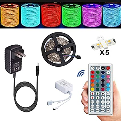 Merveilleux Led Strip,TOPMAX 5050 16.4ft/5m RGB Led Strips Lighting Kit,Led