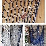 Aminiture New Nautical Fishing Net Seaside Wall