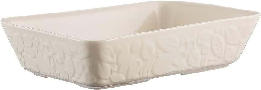 Mason Cash Forest 31cm Rectangular Baker, Ceramic, Cream, 12 x 8-Inches