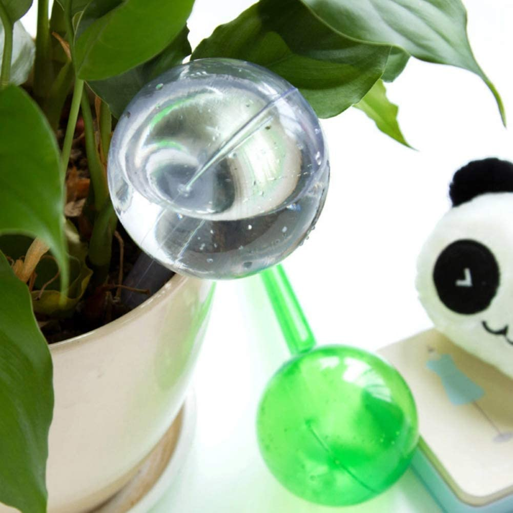 Etophigh Mini Automatic Plant Watering Device Garden Imitation Glass Ball PVC Self-Watering Globes for Plants Flowers