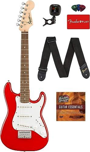 Fender Squier 3/4 Size Kids Mini Strat Electric Guitar Bundle