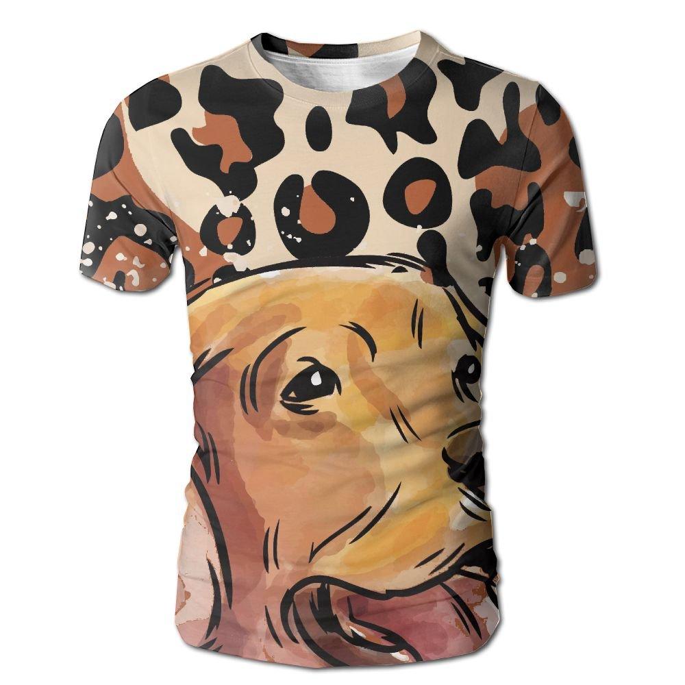 XIA WUEY Cheetah Skin Labrador MenNovelty Baseball Tshirt Graphic Tees Tops For Workout by XIA WUEY