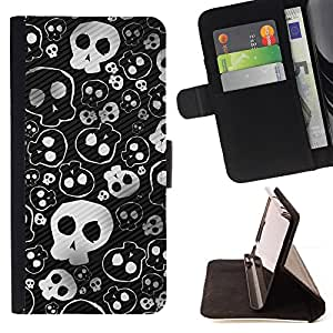 DEVIL CASE - FOR Samsung Galaxy Note 3 III - Skull Cute Cool Metal Design Death Punk - Style PU Leather Case Wallet Flip Stand Flap Closure Cover