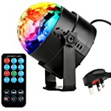 NIUBIER Disco lights Disco ball- 3W RGB LED strobe light, Music Activated Party lights and Glitter ball with Remote Control,Mini Mirror ball and Light weight rotating effective DJ Disco lighting for Home birthday party ,KTV,Bar,Stage,Wedding Celebration.