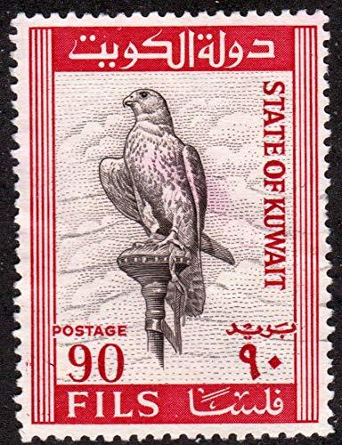Kuwait 90fils Falcon Bird Scott 298 Kuwait Postage Stamp