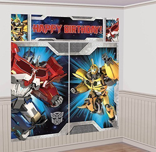 UPC 676151022118, Transformers Scene Setter Wall Decorations Kit - Kids Birthday and Party Supplies Decoration