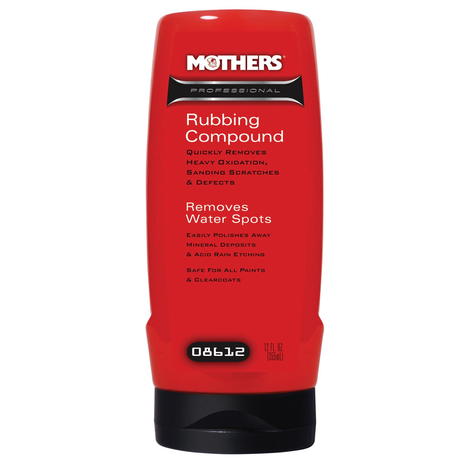 Mothers 08612-6PK Professional Rubbing Compound - 12 oz, (Pack of 6)